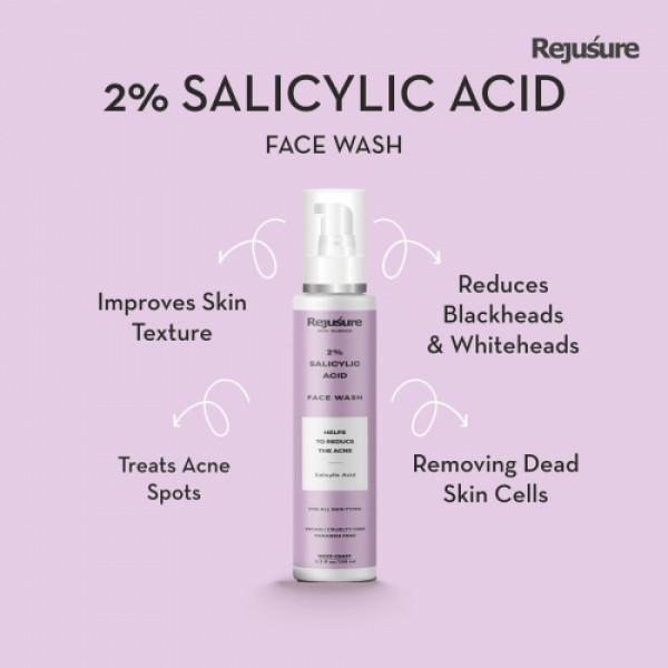 Rejusure 2% Salicylic Acid Face Wash, 100ml