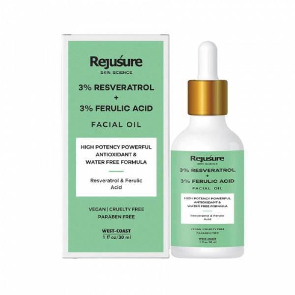 Rejusure Resveratrol & Ferulic Acid Facial Oil, 30ml