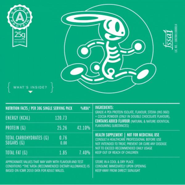 Habbit Green Vegan Pea Protein Cookie Dough Powder, 450gm