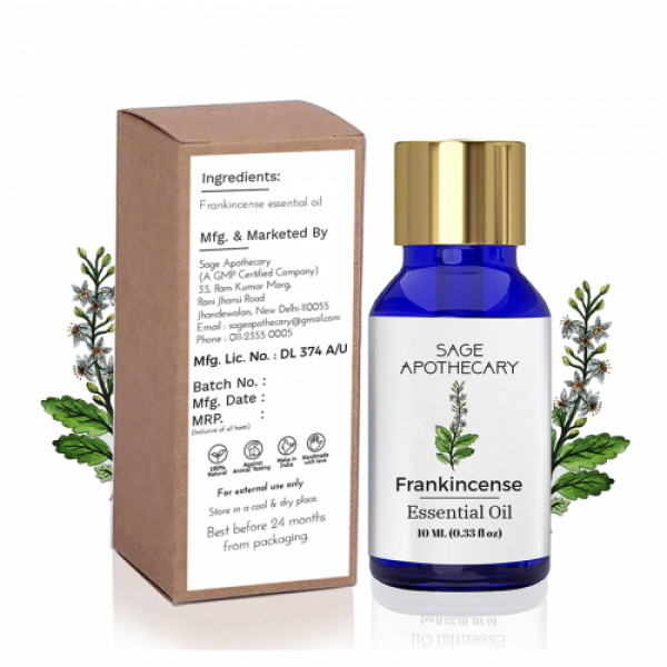 Sage Apothecary Frankincense Essential Oil, 10ml