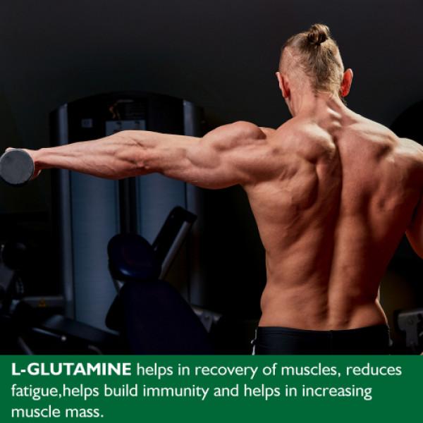 Onelife L-Glutamine Green Apple Flavour Powder, 250gm