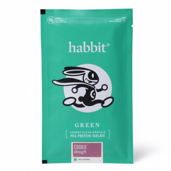 Habbit Green Vegan Pea Protein Cookie Dough Powder, 210gm