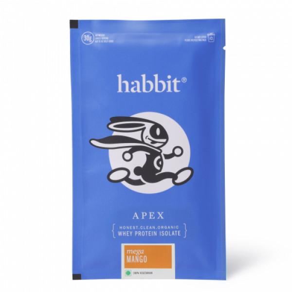Habbit Apex Whey Isolate Protein Powder Mega Mango Flavour, 450gm (15 Servings)