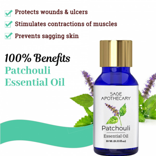 Sage Apothecary Patchouli Essential Oil, 10ml