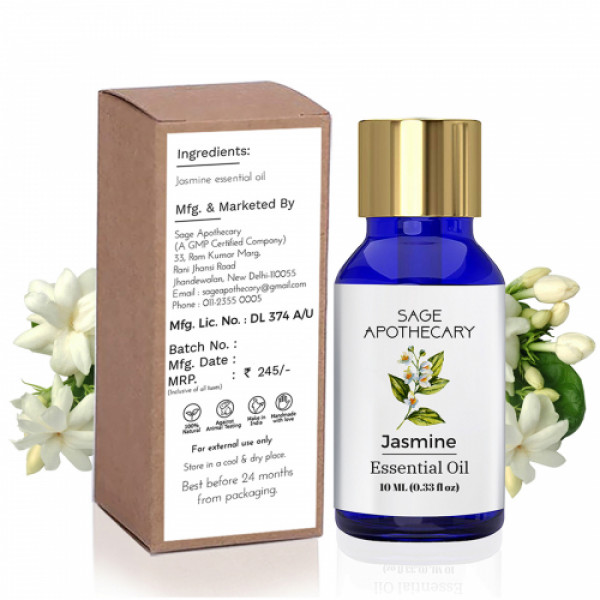Sage Apothecary Jasmine Essential Oil, 10ml