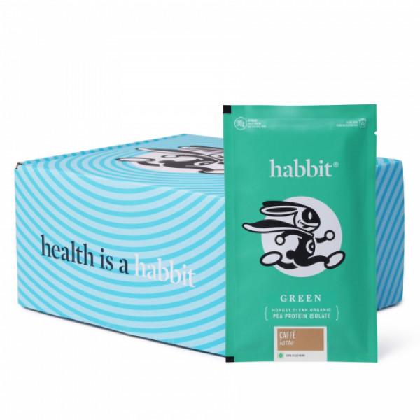 Habbit Green Vegan Pea Protein Caffe Latte Powder, 210gm