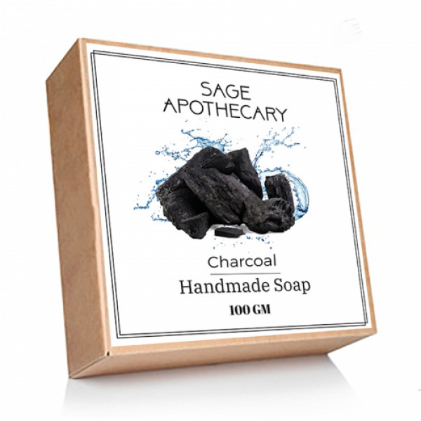 Sage Apothecary Charcoal Soap, 100gm