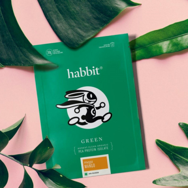 Habbit Green Vegan Pea Protein Vintage Vanilla Powder, 450gm