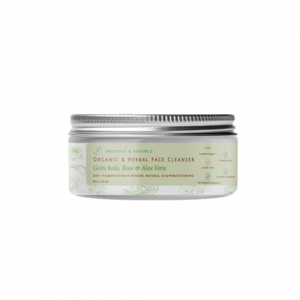 Precious Nature Organic and Herbal Face Cleanser, 50gm