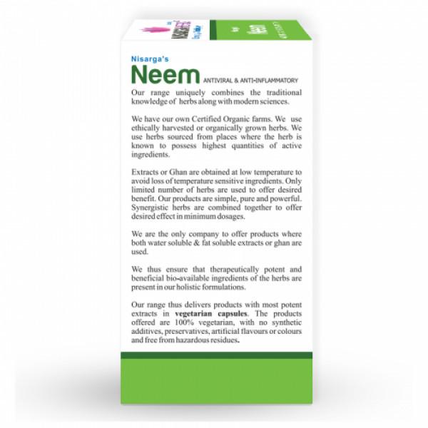 Nisarga Herbs Neem, 60 Capsules