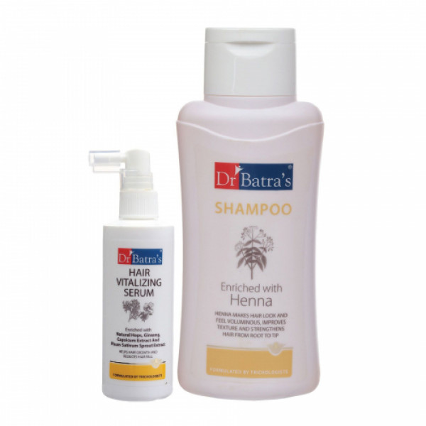 Dr Batra's Hair Vitalizing Serum, 125ml With Normal Shampoo, 500ml Combo Pack
