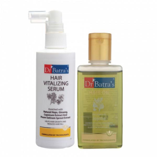 Dr Batra's Hair Vitalizing Serum, 125ml With Hair Oil, 100ml Combo Pack