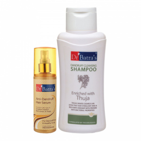 Dr Batra's Anti Dandruff Hair Serum With Dandruff Cleansing Shampoo, 500ml Combo Pack