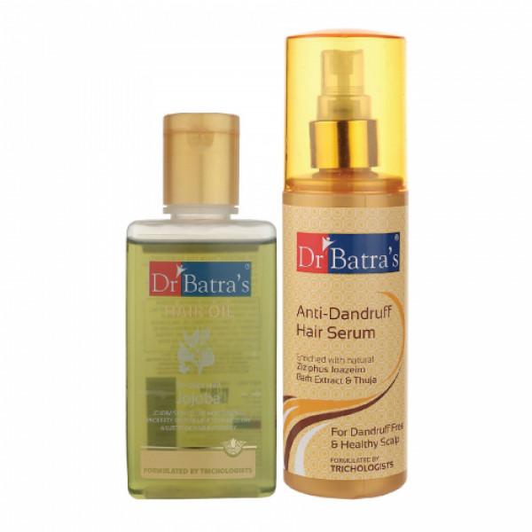 Dr Batra's Anti Dandruff Hair Serum With Hair Oil, 100ml Combo Pack