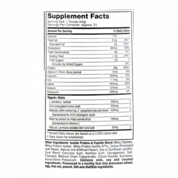 Muscletech Nitro Tech Whey Isolate + Peptides Whey Protein Powder Mocha Cappuccino, 1.81kg