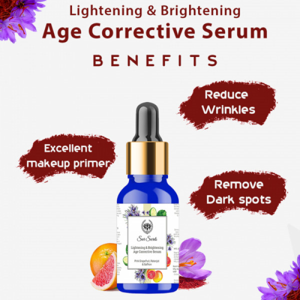 Seer Secrets Pink Grapefruit, Ratanjot & Saffron Age Corrective Serum, 30ml