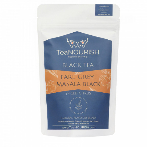 TeaNOURISH Earl Grey Masala Black Tea, 100gm