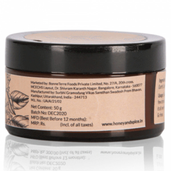 Honey and Spice Rose & Sandalwood Face Pack, 50gm