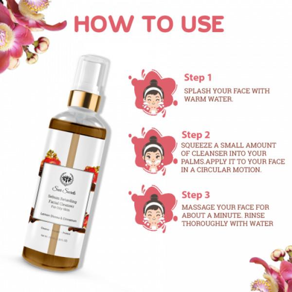 Seer Secrets Lemon Shorea Cinnamon Sebum Retarding Facial Cleanser, 100ml