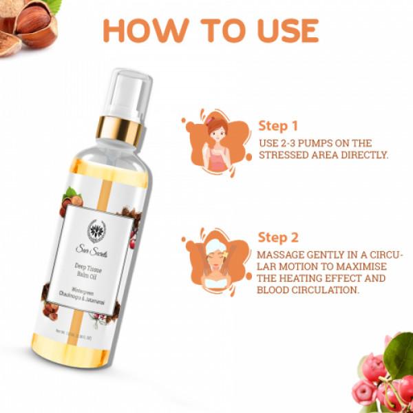 Seer Secrets Deep Tissue Balm Oil - Quick Pain Relief Oil, 110ml