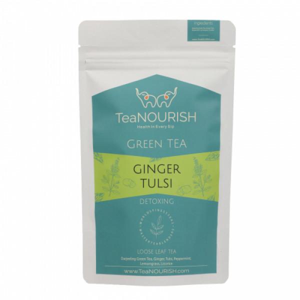 TeaNOURISH Ginger Tulsi Darjeeling Green Tea, 50gm