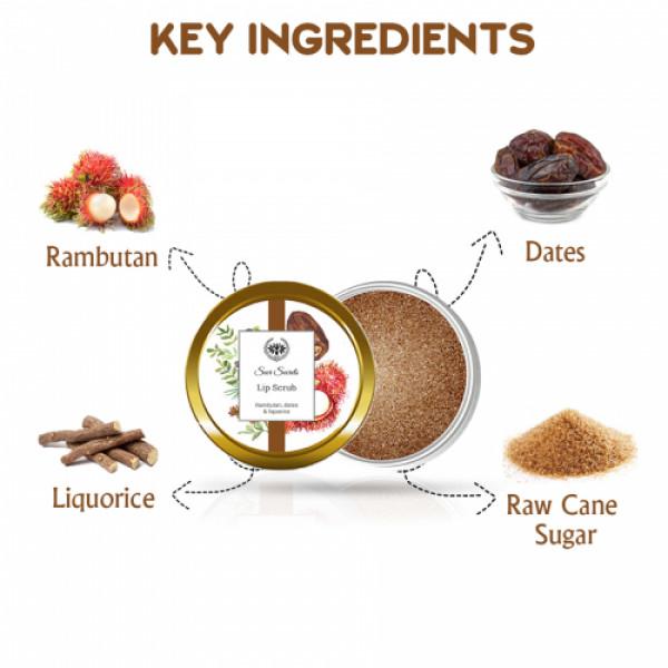 Seer Secrets Rambutan, Dates & Liquorice Lip Scrub, 8gm