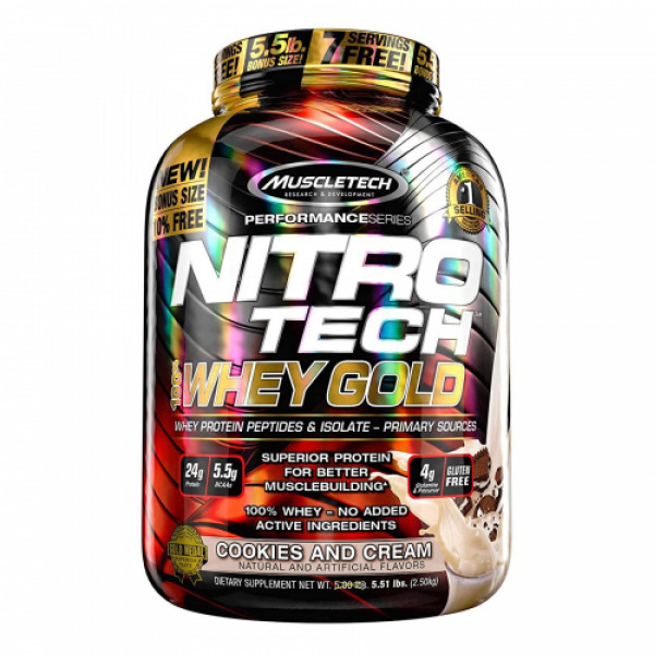 Muscletech Nitro Tech Whey Gold Cookies and Cream, 2.5kg