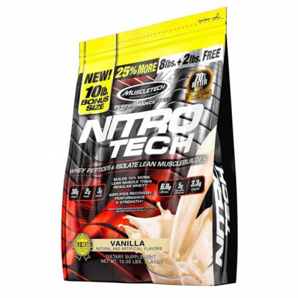 Muscletech Whey Protein Powder + Creatine Monohydrate Vanilla, 4.54kg