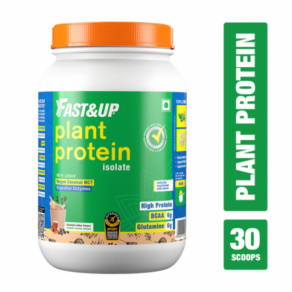 Fast&Up Organic Plant Protein Caramel Coffee, 30 Servings