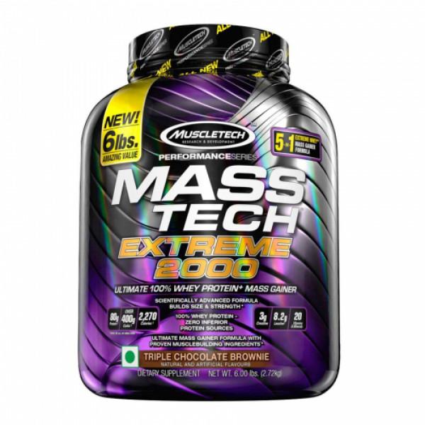 Muscletech Mass Tech Extreme Triple Chocolate Brownie, 2.72kg