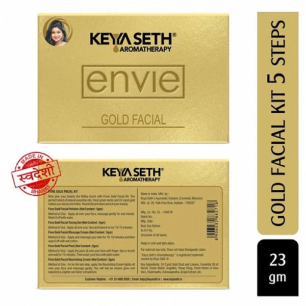 Keya Seth Aromatherapy Envie Gold Facial Kit, 23gm