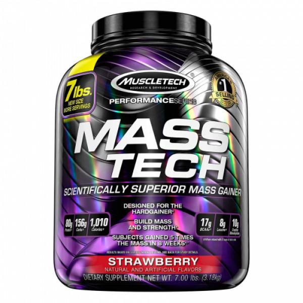 Muscletech Mass Tech Elite Whey Protein Powder Strawberry, 3.18kg