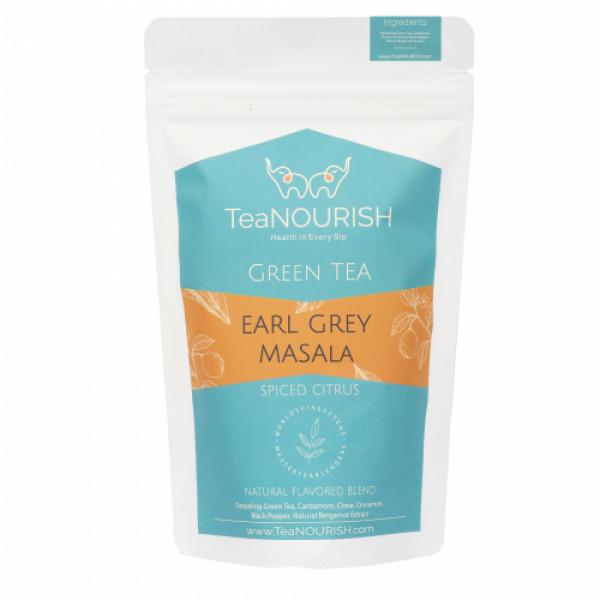 TeaNOURISH Earl Grey Masala Darjeeling Green Tea, 50gm