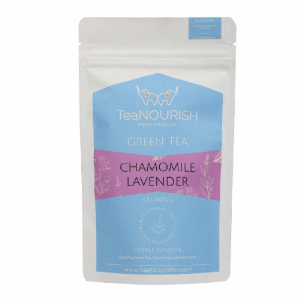 TeaNOURISH Chamomile Lavender Darjeeling Green Tea, 50gm