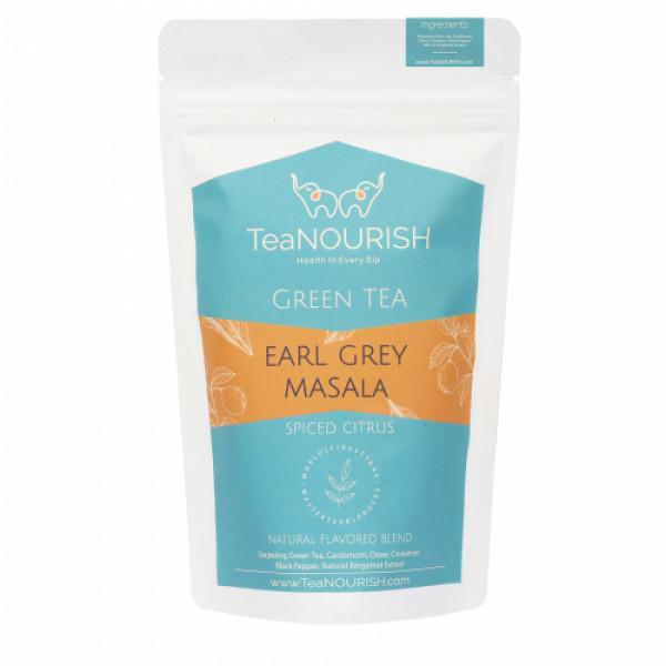 TeaNOURISH Earl Grey Masala Darjeeling Green Tea, 100gm