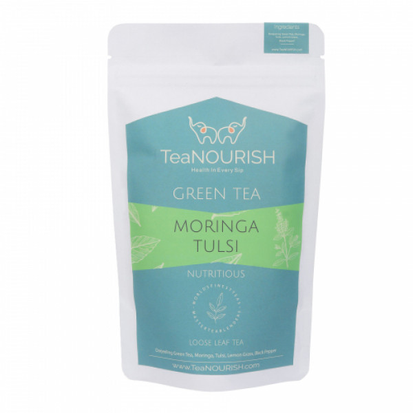 TeaNOURISH Moringa Tulsi Darjeeling Green Tea, 50gm