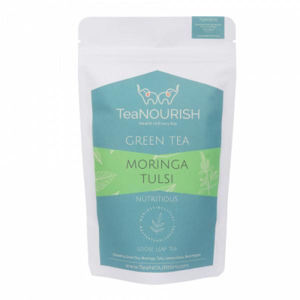 TeaNOURISH Moringa Tulsi Darjeeling Green Tea, 100gm