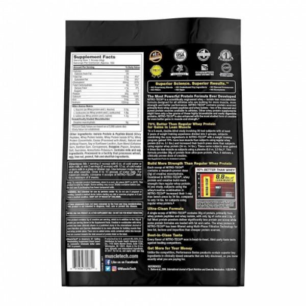 Muscletech Nitro Tech Whey Isolate + Peptides Protein Powder Milk Chocolate, 4.54kg