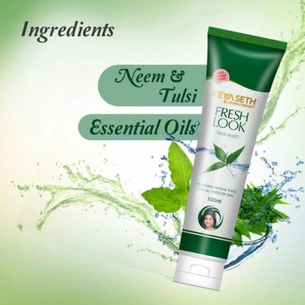 Keya Seth Aromatherapy Fresh Look Face Wash Neem & Tulsi, 100ml