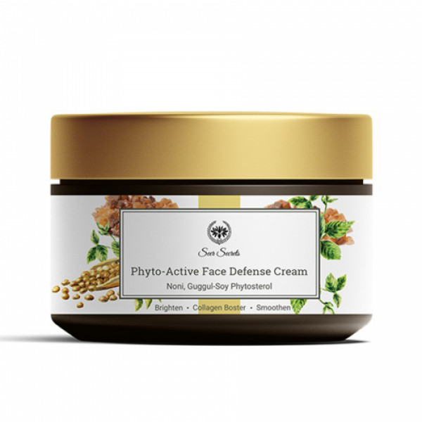Seer Secrets Phyto - Active Face Defense Cream Noni Guggul - Soy Phytosterol, 40gm