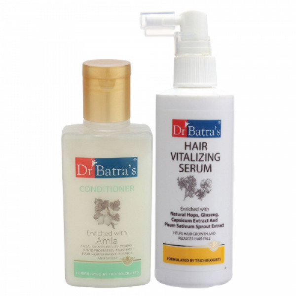 Dr Batra's Hair Vitalizing Serum, 125ml With Conditioner, 100ml Combo Pack