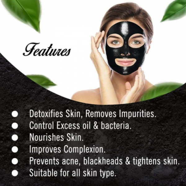 Keya Seth Aromatherapy Charcoal Peel Off Mask Face Pack, 50ml