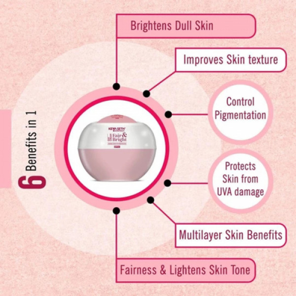 Keya Seth Aromatherapy Fair & Bright Day Cream For Brighter Skin SPF 15+, 50gm