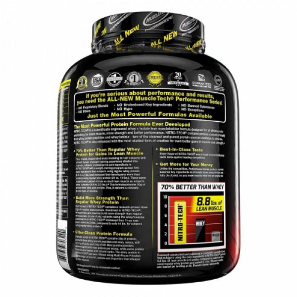 Muscletech Nitro Tech Whey Isolate + Peptides Protein Powder Vanilla, 1.81kg