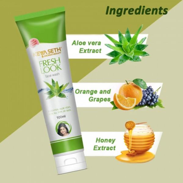Keya Seth Aromatherapy Fresh Look Aloevera Face Wash, 100ml