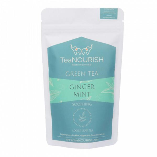 TeaNOURISH Ginger Mint Darjeeling Green Tea, 100gm