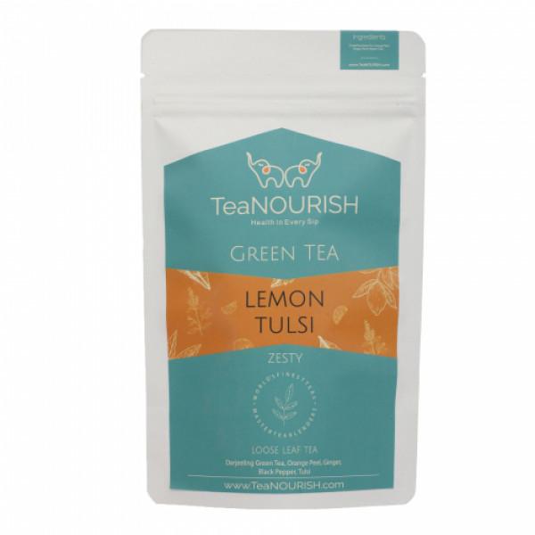 TeaNOURISH Lemon Tulsi Darjeeling Green Tea, 50gm