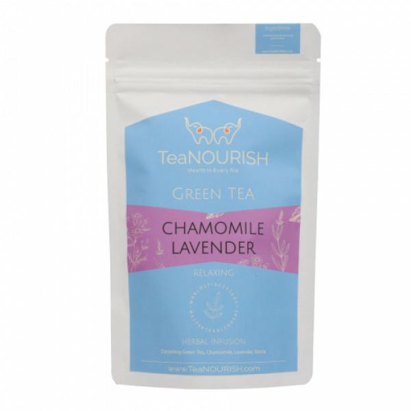 TeaNOURISH Chamomile Lavender Darjeeling Green Tea, 100gm