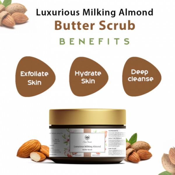 Seer Secrets Almond Butter Scrub Exfoliate Hydrate Moisturize, 100gm