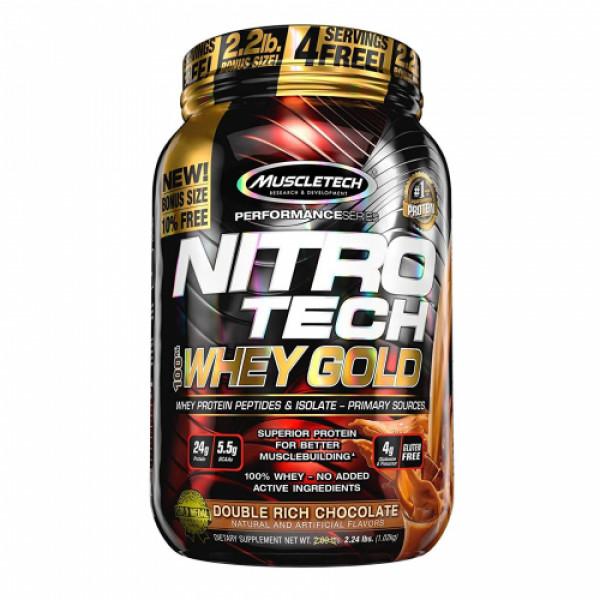Muscletech Nitro Tech Whey Gold Protein Powder Chocolate, 1.02kg